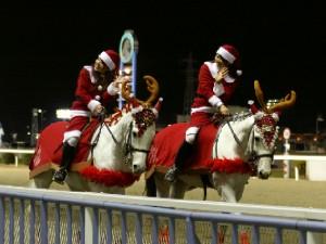 川崎競馬の誘導馬 12月クリスマスVer おまけ