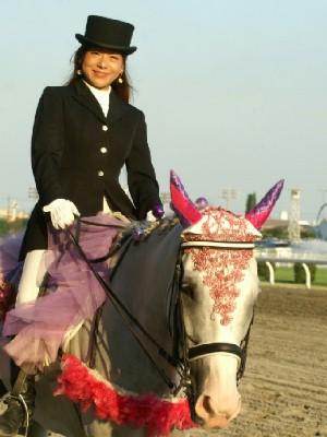 川崎競馬の誘導馬 9月開催 シロくん 3